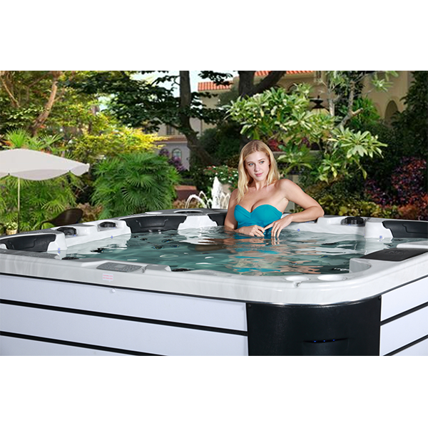 Cheap outdoor lazy spa hot tubs SKT333E